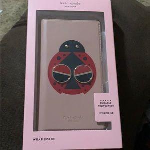 Kate spade ♠️ ladybug 🐞 IPhone XR folio case